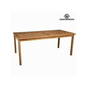 Majorque salon de jardin 4 places en bois acacia marron for Table exterieur 300