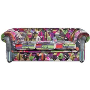 Canape chesterfield tissu achat vente canape for Canape patchwork