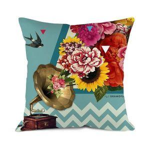 housse de coussin fleuri achat vente housse de coussin fleuri pas cher cdiscount. Black Bedroom Furniture Sets. Home Design Ideas
