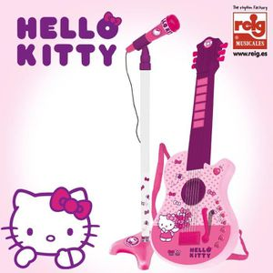 INSTRUMENT DE MUSIQUE Guitare 6 Cordes + Micro - Hello Kitty