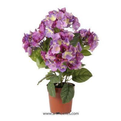 hortensia artificiel en pot leste bleu pastel h achat vente fleur artificielle s 201 ch 201 e
