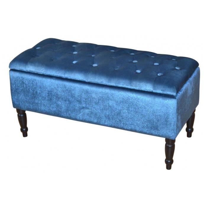 banc coffre en bois et tissu h 47 x l 90 x p 40 cm achat vente banc cadeaux de no l cdiscount. Black Bedroom Furniture Sets. Home Design Ideas
