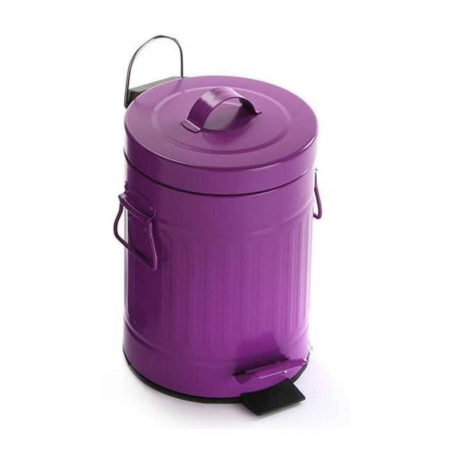 Poubelle de salle de bain p dale violet style r tro 3l - Poubelle salle de bain originale ...