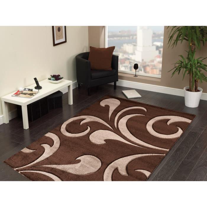 tapis 3d moderne hawaii 1320 marron 200 x 290 cm achat vente tapis cdiscount. Black Bedroom Furniture Sets. Home Design Ideas