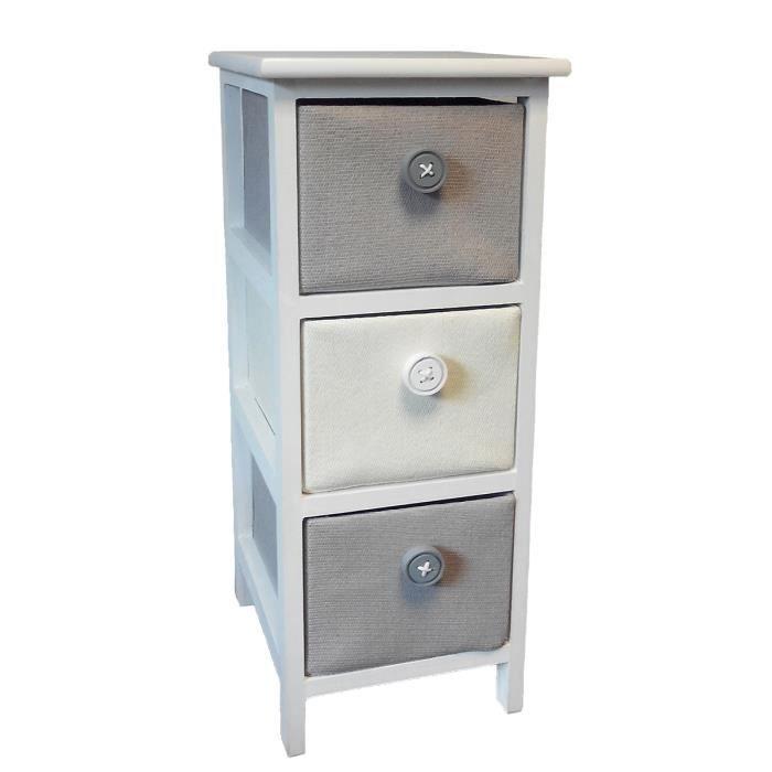 Meuble 3 tiroirs pastel achat vente commode de for Meuble 70x40