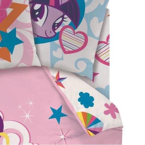 drap housse 90x190cm my little pony rainbow sky achat. Black Bedroom Furniture Sets. Home Design Ideas