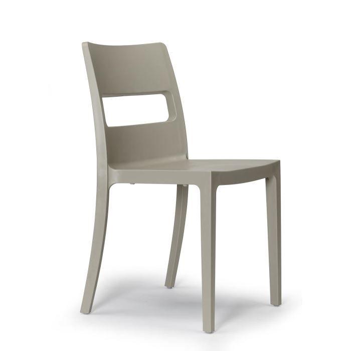 6 chaises tourterelle design sai lot de 6 achat for Lot de 6 chaises design