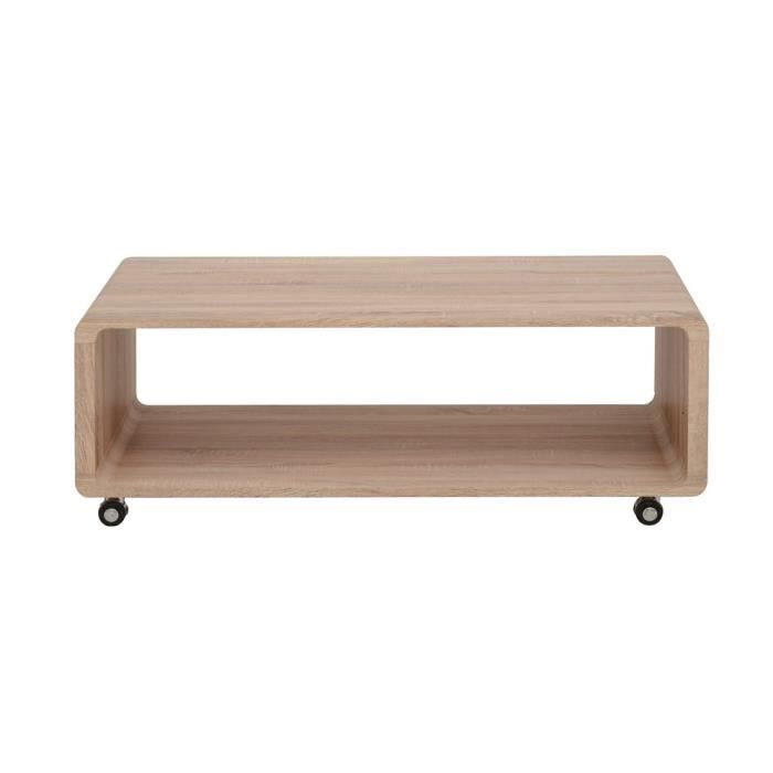 Table basse swithome coffee rectangulaire sonoma achat for Table basse sonoma