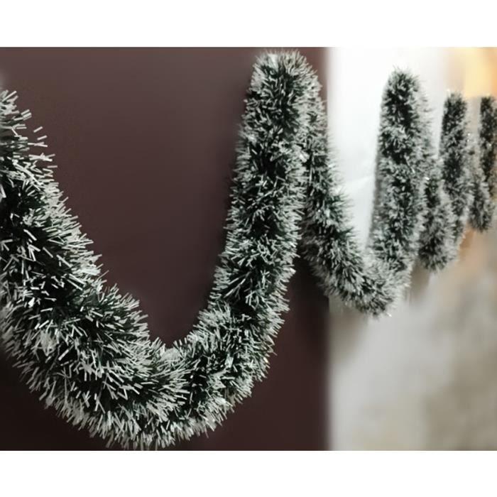 guirlande d coration no l longueur 2m mati re pvc couleur verte fonc blanche belle d coration. Black Bedroom Furniture Sets. Home Design Ideas