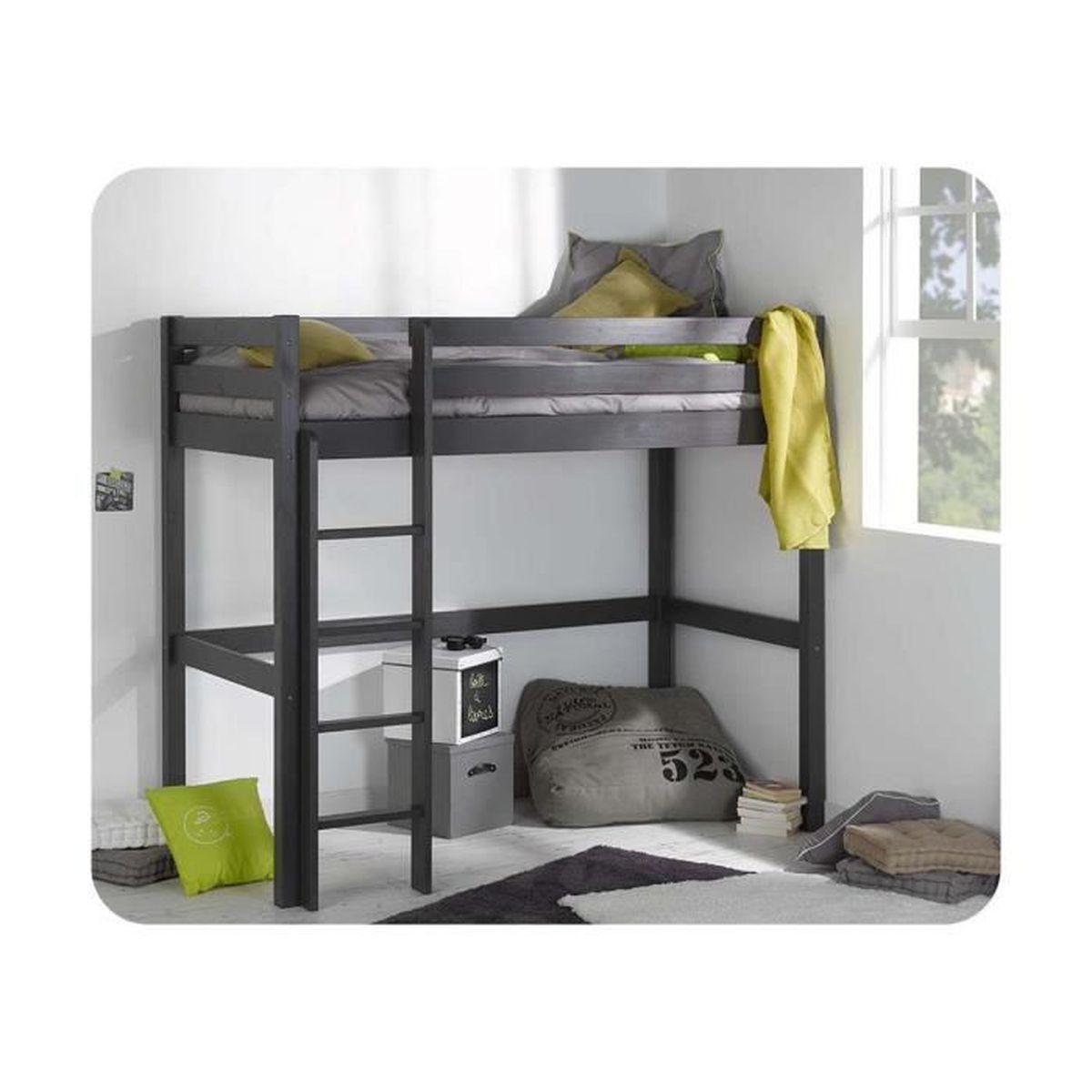 Lit enfant mezzanine cargo 90x190 cm achat vente lit mezzanine lit enfant - C discount lit enfant ...