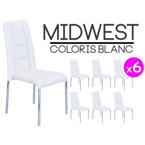 Lot chaises blanches achat vente lot chaises blanches pas cher soldes - Lot 6 chaises blanches ...