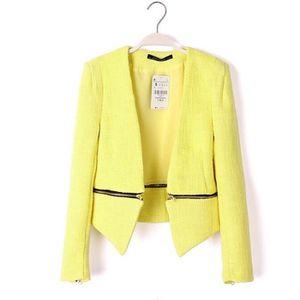 blazer jaune femme achat vente blazer jaune femme pas cher les soldes sur cdiscount. Black Bedroom Furniture Sets. Home Design Ideas