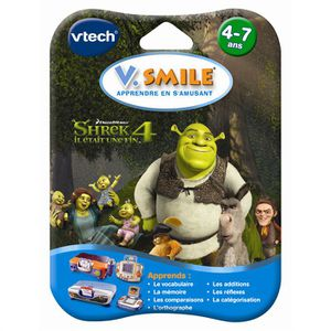 JEU CONSOLE EDUCATIVE Jeu VSmile Shrek 4