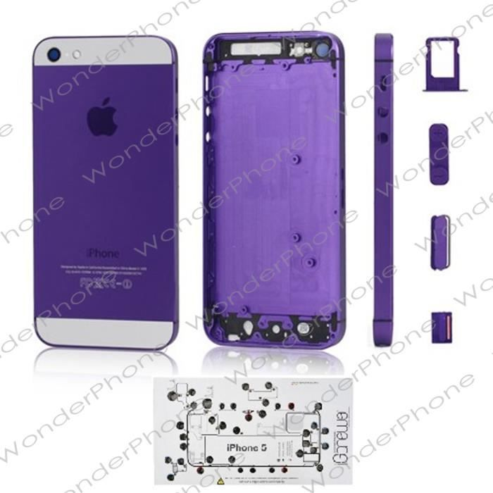 coque chassis iphone 5 violet iscrews outils achat. Black Bedroom Furniture Sets. Home Design Ideas