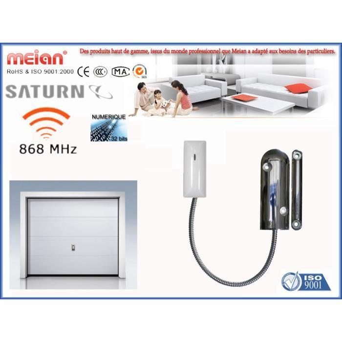 D tecteur sabot sans fil d 39 ouverture porte de garage ou for Alarme porte de garage basculante