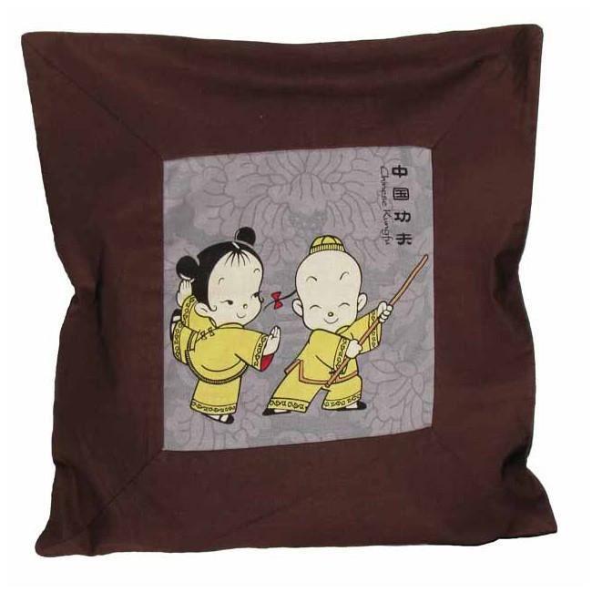 housse de coussin 43 x 43 cm les rois du kungfu achat vente housse de coussin les soldes. Black Bedroom Furniture Sets. Home Design Ideas