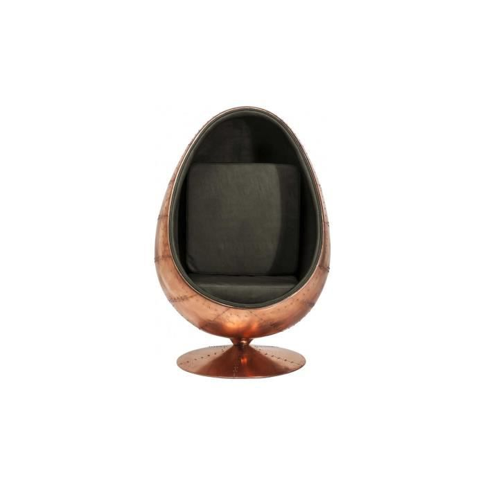 fauteuil oeuf eye ball brass kare design achat vente fauteuil cdiscount. Black Bedroom Furniture Sets. Home Design Ideas