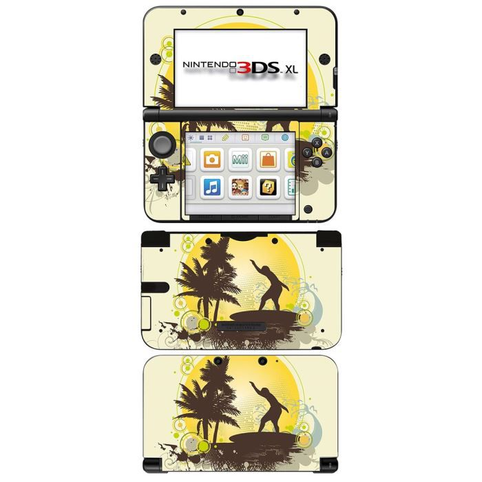 skin stickers pour nintendo 3ds xl sticker surfing time. Black Bedroom Furniture Sets. Home Design Ideas
