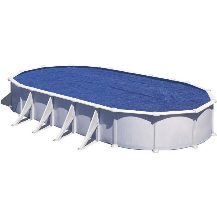 Gre b che pour piscine ovale 500 x 300 anti u v a achat vente b che cou - Bache piscine discount ...