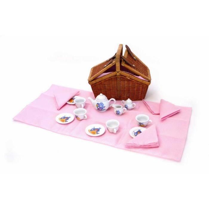 panier pique nique pour enfant de la petite souris lilly achat vente dinette cuisine. Black Bedroom Furniture Sets. Home Design Ideas