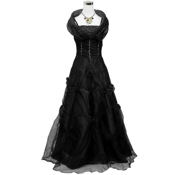 robe de soir e grande taille doubl e voile avec gris. Black Bedroom Furniture Sets. Home Design Ideas