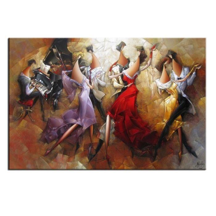 tableau cadeau enfant diy la main peinture 40x50 cm danse de groupe achat vente peinture au. Black Bedroom Furniture Sets. Home Design Ideas
