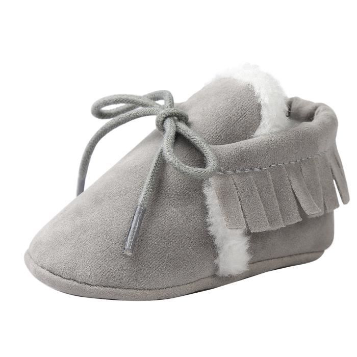 b5a854d2ef335 ... chaussons mocassins bebe flanelle chaussure a lace
