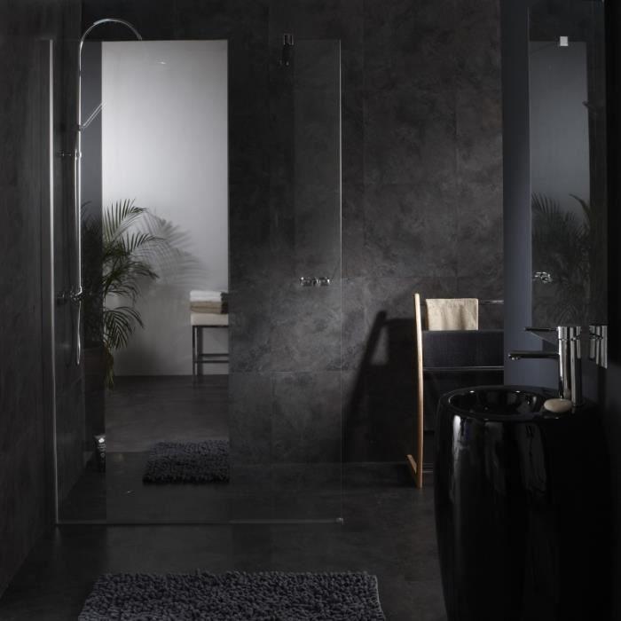 Paroi de douche fixe avec bande effet miroir in achat for Miroir pour douche