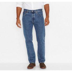 JEANS Jeans Levis 501 bleu stonewash homme