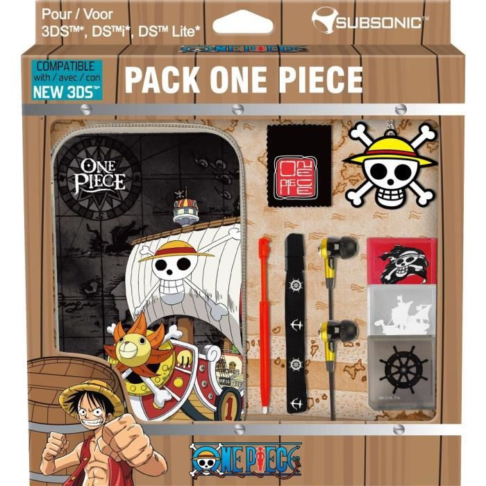 CASQUE , MICRO CONSOLE Pack One Piece New 3DS