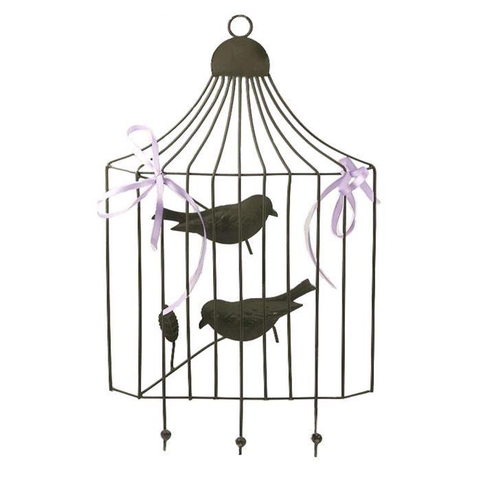 Cage a oiseaux murale a pateres achat vente objet - Maison du monde cage oiseau ...