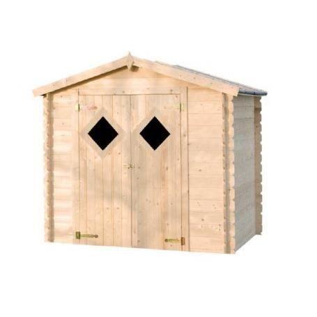 Abri de jardin en bois fen tre losange 4 2 m2 achat for Pro fenetre mortagne du nord