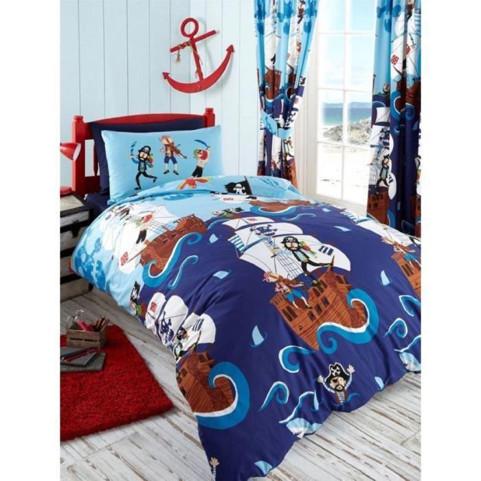 swashbuckle pirates double housse de couette et taies d. Black Bedroom Furniture Sets. Home Design Ideas