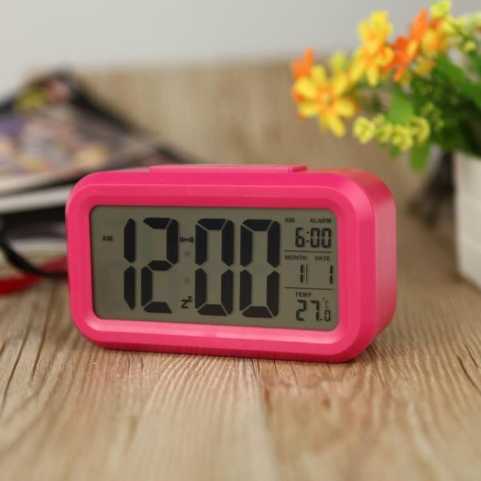 Alarme LED Horloge numérique répétition sommeiller activé ...