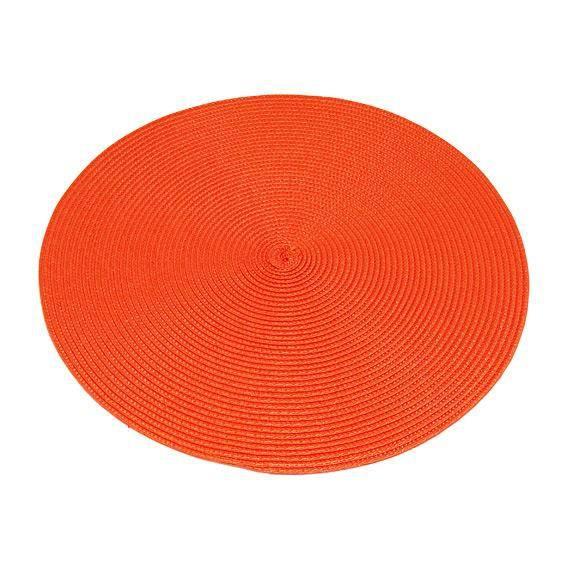 4 sets de table galaxie orange achat vente set de for Set de table rond blanc