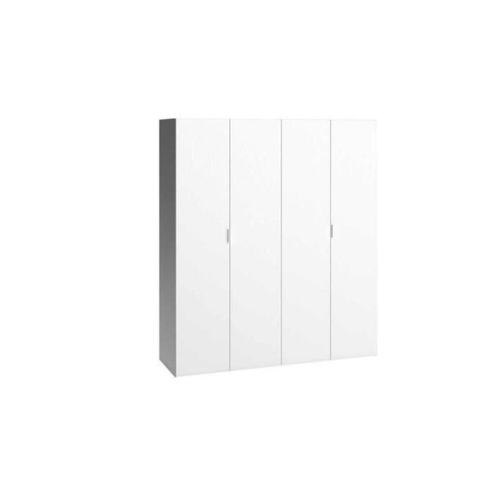 armoire dressing 4 portes 260 4 you sans colonne de rangement achat vente armoire de chambre. Black Bedroom Furniture Sets. Home Design Ideas