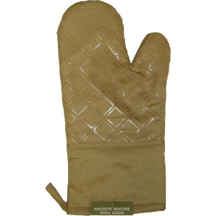 gant de cuisine en silicone avec aimant beige achat vente gants de cuisine cdiscount. Black Bedroom Furniture Sets. Home Design Ideas