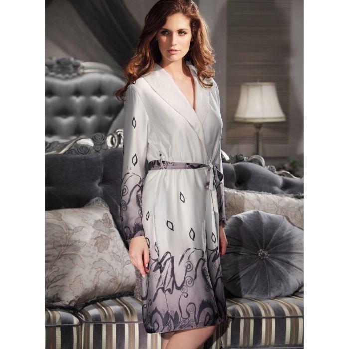 robe de chambre ditla pour femme ecru achat vente pyjama chemise de nuit robe de chambre. Black Bedroom Furniture Sets. Home Design Ideas