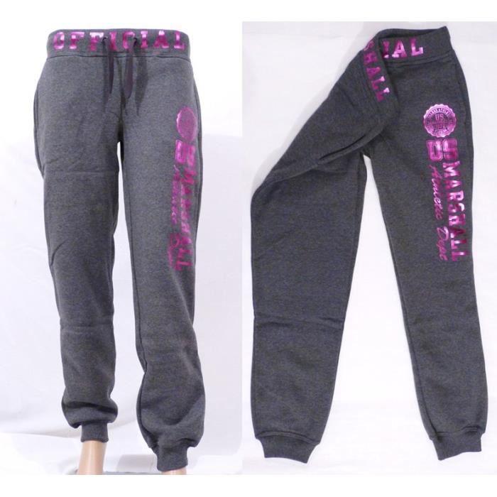 pantalon jogging femme enfant us marshall gris anthracite. Black Bedroom Furniture Sets. Home Design Ideas