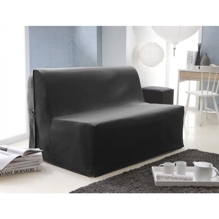 Housse pour bz twill serg couleur noire 83x160 achat for Housse bz noire