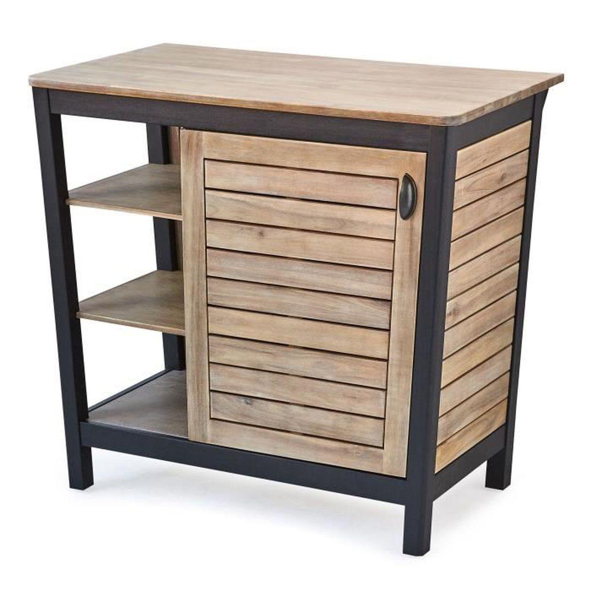 Pitaya meuble de salle de bains en acacia massif 90cm achat vente meuble - Meuble en acacia massif ...
