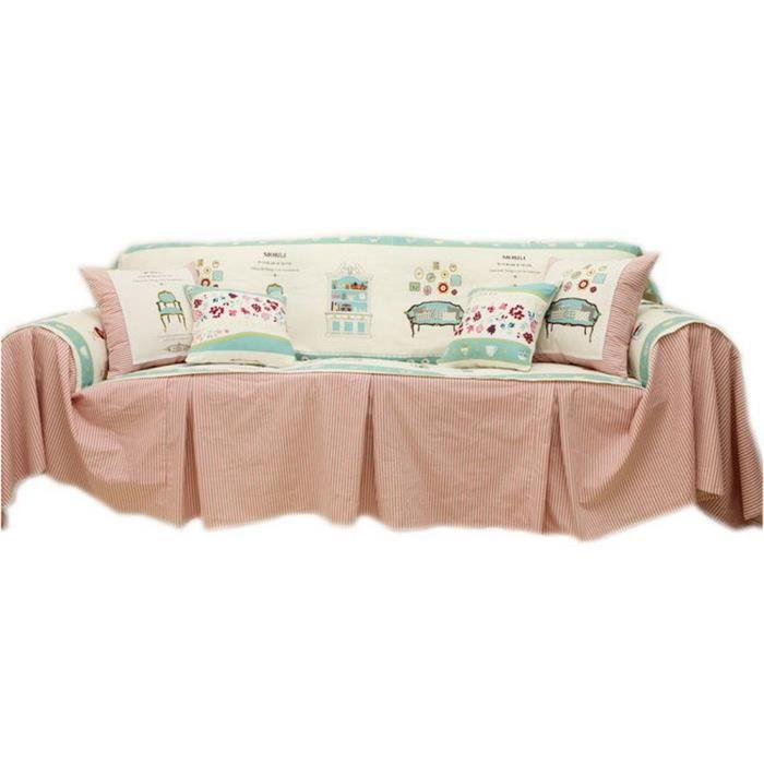 Housse canape 180 cm achat vente housse canape 180 cm pas cher cdiscount for Housse canape rose