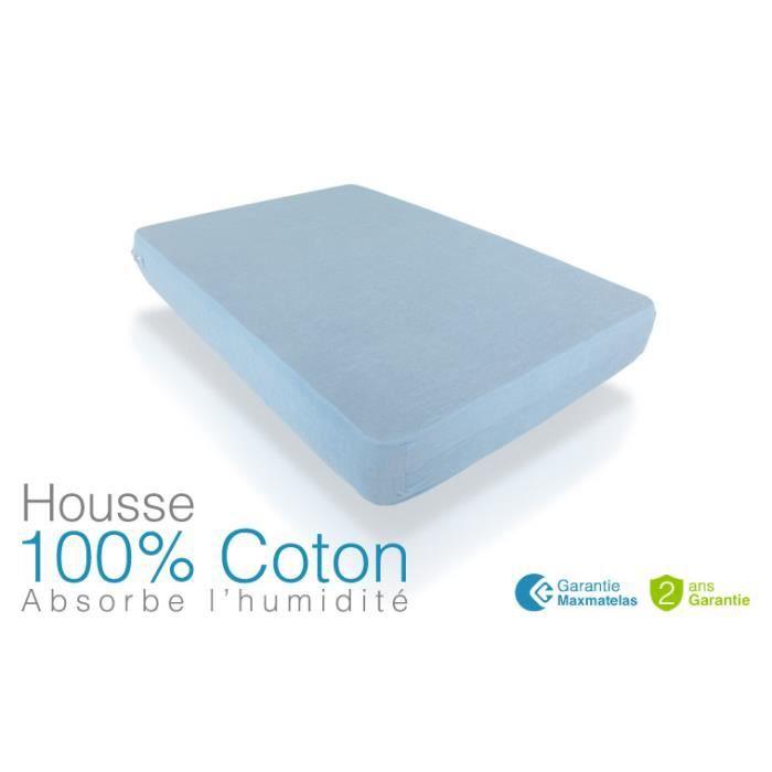 housse 100 coton 90x200 achat vente prot ge matelas cdiscount. Black Bedroom Furniture Sets. Home Design Ideas