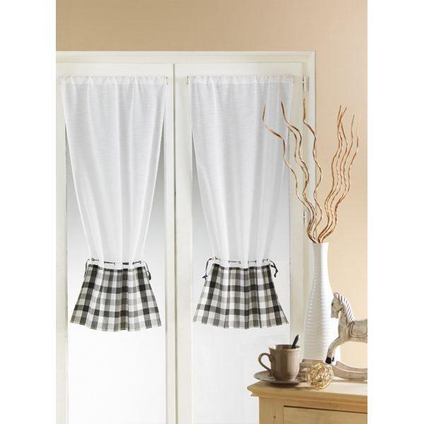 paire 2 rideaux tamine vichy bordeaux achat vente rideau voilage cdiscount. Black Bedroom Furniture Sets. Home Design Ideas