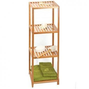 Etag re 4 plateaux bambou meuble de rangement achat for Meuble rangement bambou