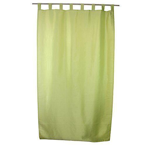 g zze rideau dakar 140x255 cm aspect soie uni vert pr t poser 8 passants bande d 39 ourlet. Black Bedroom Furniture Sets. Home Design Ideas