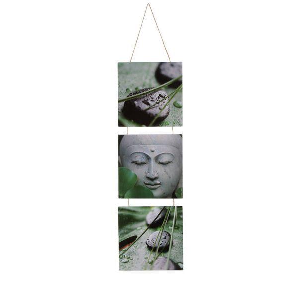 Triptyque 3 tableaux peints zen achat vente tableau toile cdiscount - Tableau triptyque zen ...