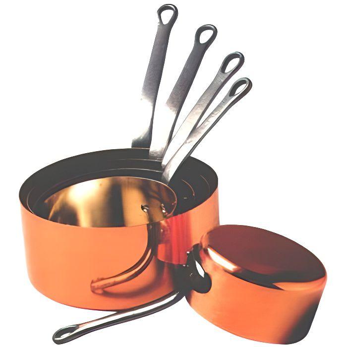 S rie 5 casseroles cuivre etam 12 20 cm achat vente - Ustensiles de cuisine en cuivre ...