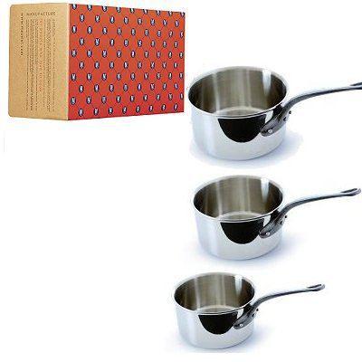 s rie 3 casseroles mauviel acier inoxydable 18 10 achat vente casserole s rie 3 casseroles. Black Bedroom Furniture Sets. Home Design Ideas