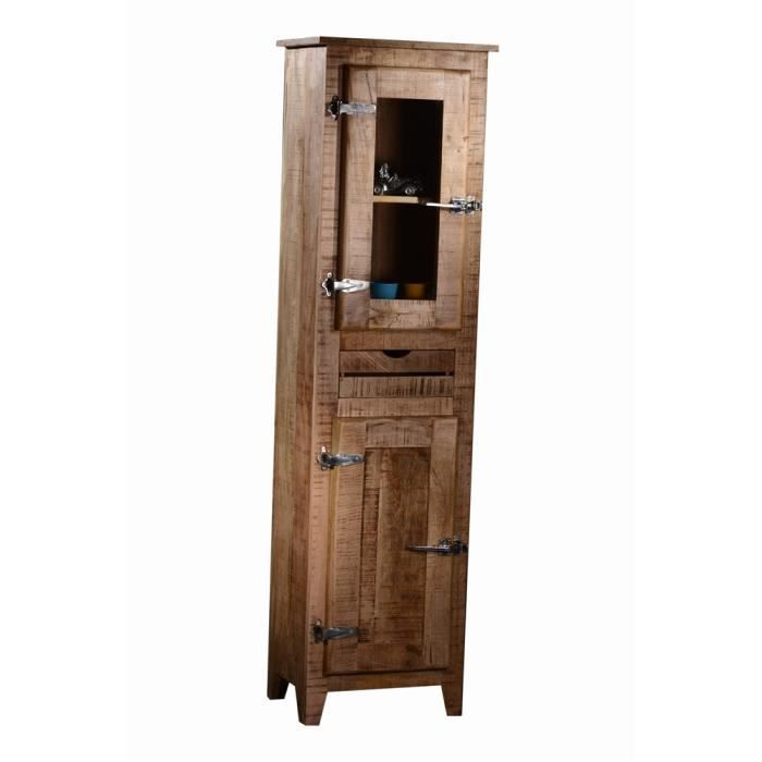 armoire 1 porte frigo 1 bois naturel achat vente armoire de chambre armoire 1 porte frigo 1. Black Bedroom Furniture Sets. Home Design Ideas